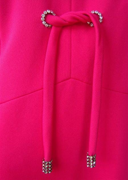 Rochie lunga roz ciclam ocazie eleganta petrecere vintage anii 60