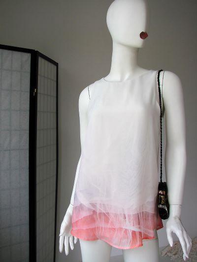 Top Zara voal alb lung marime S