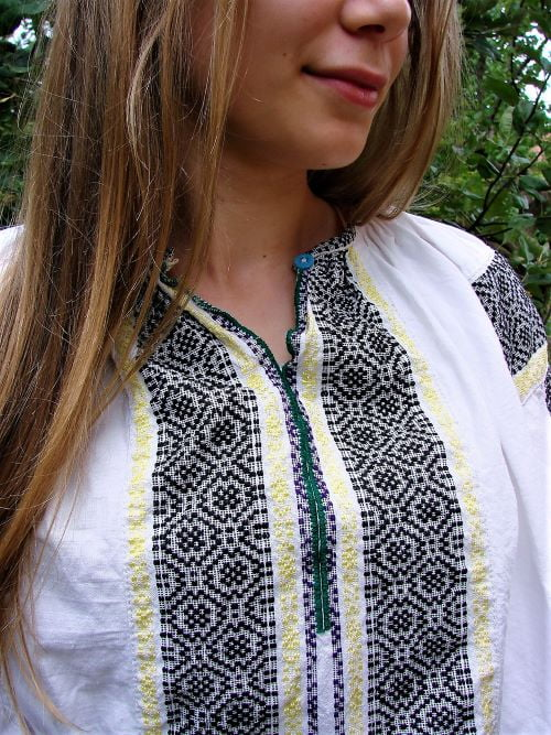 Ie bluza taraneasca traditionala veche marime S