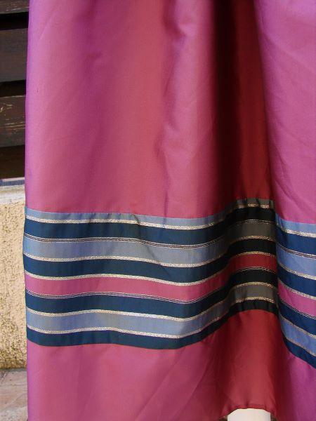 Fusta vintage lunga larga volane roz inchis prafuit Vera Mont