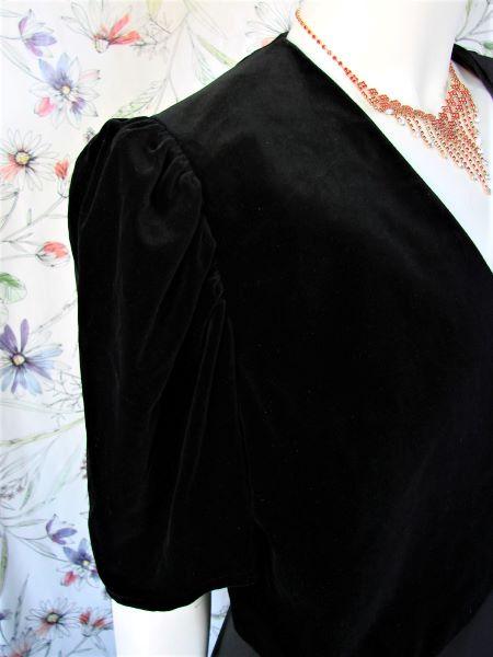 Bolero vintage negru catifea fina