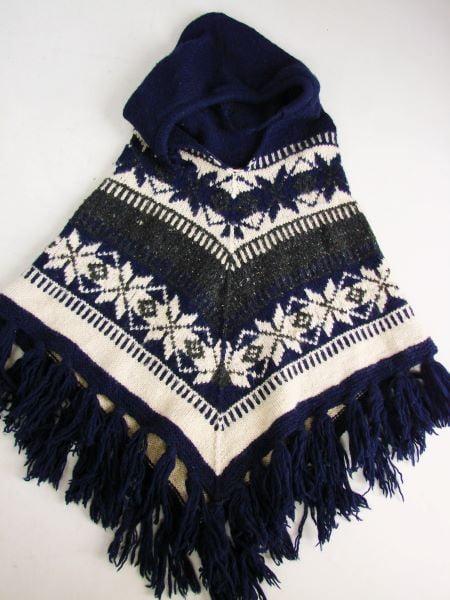Poncho lana copii model nordic second hand
