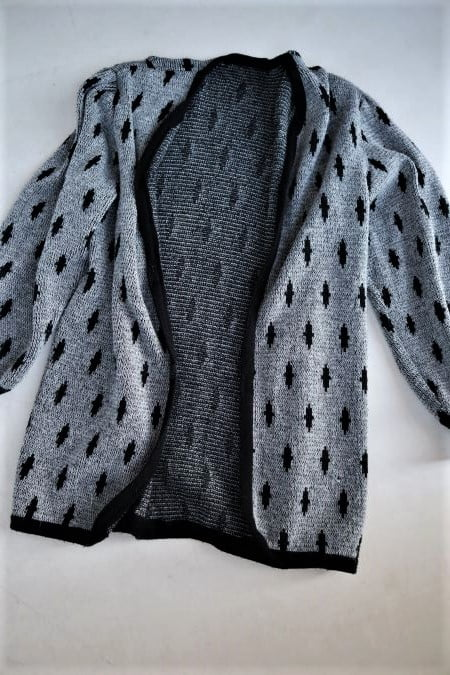 Cardigan second hand lung gros gri marime L