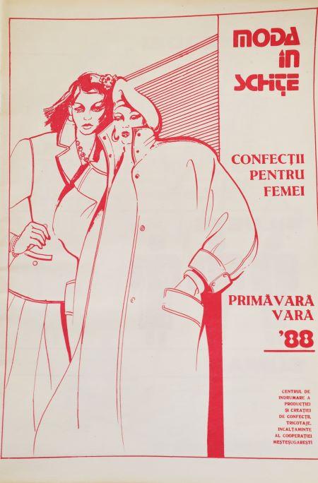revista romaneasca de moda din anii 80