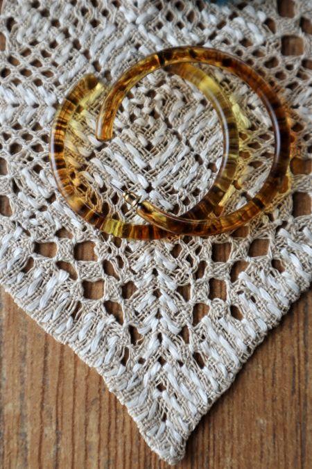 Suport decoratiune pahare textil crem handmade vintage ieftin