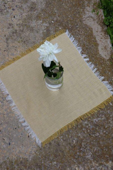 Suport servet textil galben pal second hand ieftin