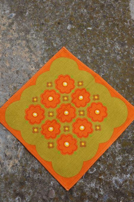 Suport servet textil panza vintage