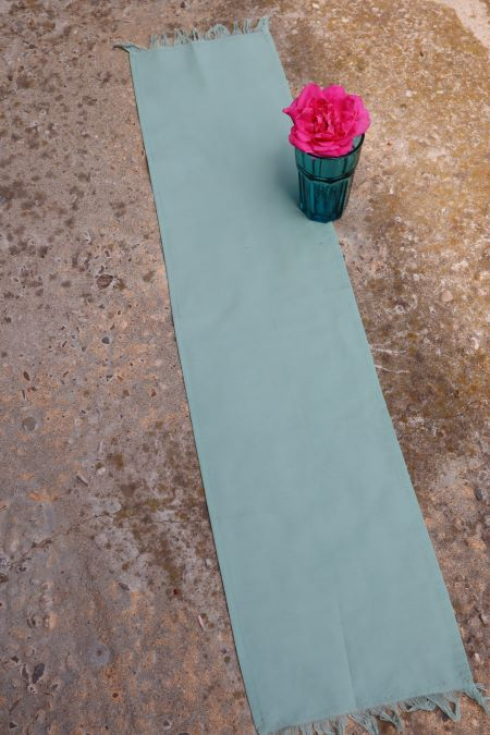 Servet textil subtire verde deschis vintage