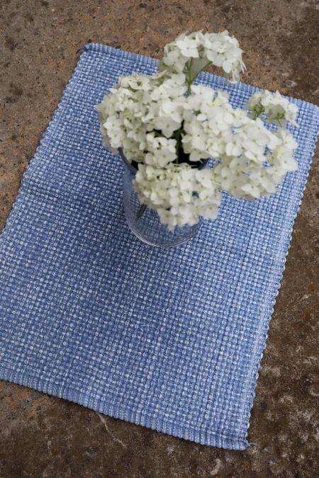 Suport servet masa textil tesut bleu second hand