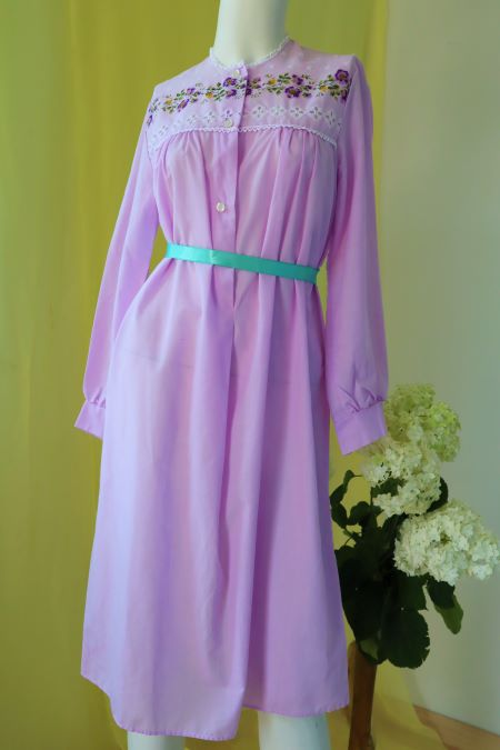 Camasa de noapte vintage subtire lila