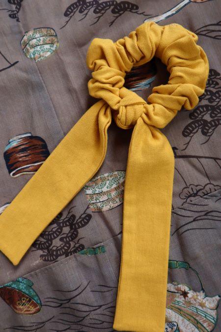 Elastic par panglici bumbac galben