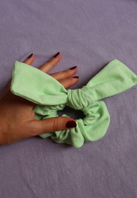 Elastic par finet verde pastel