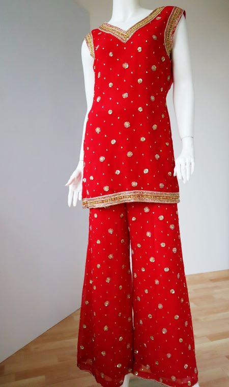 Costum indian rosu