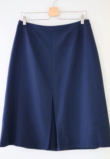 Fusta stofa lana bleumarin vintage marime L/XL
