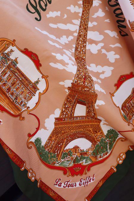 Esarfa vintage suvenir Paris