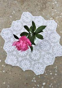 Mileu alb vintage handmade