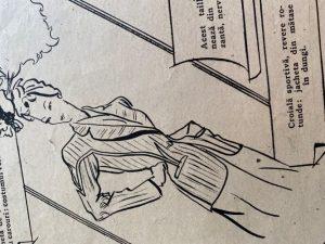 schita design moda anii 40