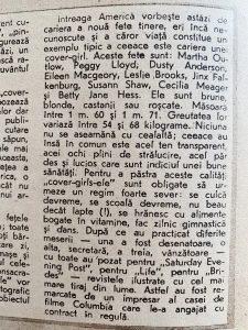 Anul 1947. Ce fete ajungeau pe coperte de reviste si in reclame