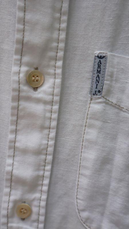 Camasa alba Armani Jeans bumbac maneca scurta second hand