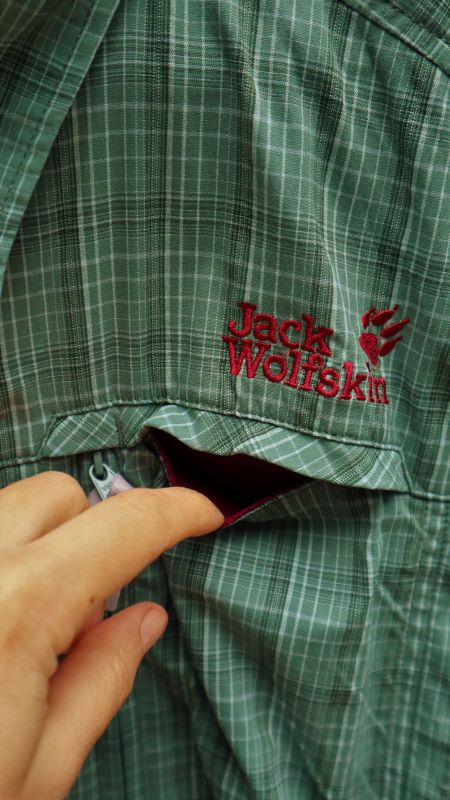 Camasa femei protectie UV JacK Wolfskin verde second hand