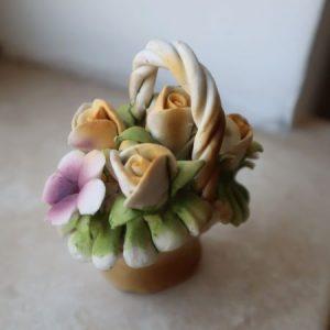 Cosulet mic flori ceramica vintage obiect decor