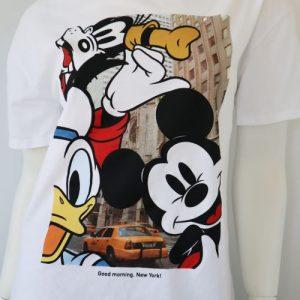 Tricou Zara bumbac alb Disney second hand
