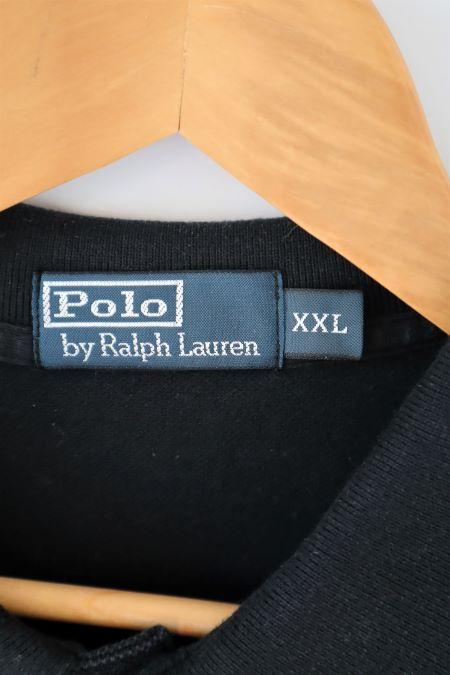 Tricou negru Polo by Ralph Lauren original bumbac second hand marime XXL