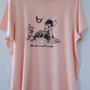 Tricou bumbac Bambi and Friends roz caisa second hand
