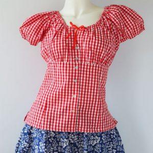 Bluza vintage vara patratele
