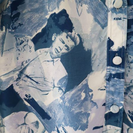 Camasa vintage albastra vascoza James Dean