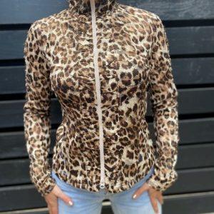 Jacheta foarte subtire animal print second hand