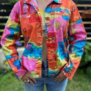 Jacheta subtire colorata bumbac SUA second hand