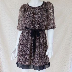 Rochie scurta voal animal print second hand