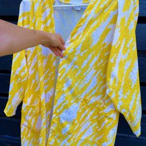 Blazer vintage anii 80 galben alb