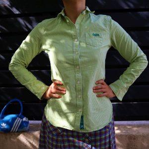 Camasa femei Superdry verde ecosez second hand