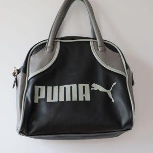 Geanta vintage Puma neagra gri