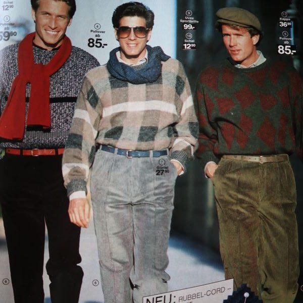 Moda pentru barbati, toamna - iarna, anii 80
